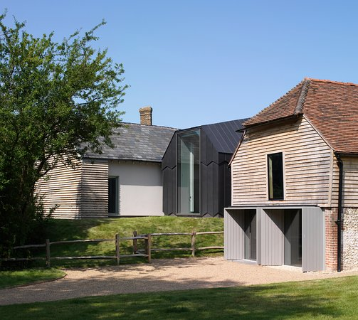 Ditchling, UK: The exterior of the museum, which was awarded the 2014 RIBA Award for South East Building of the Year, 2014 RIBA National Award winner and the 2013 World Architecture News Award for Adaptive Reuse.