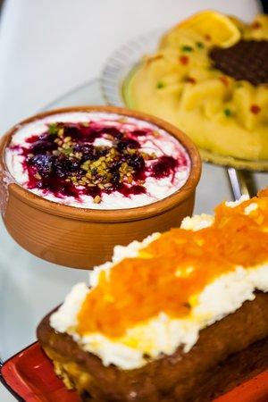 "Ganimede Hotel, Galaxidi: Homemade local sweets ""Greek Breakfast """