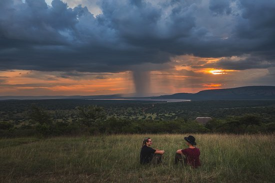 Lake Mburo Luxury tented camp has a great spot to watch and enjoy the sunset. It's on top of the hill. I really loved that place. It's so peaceful up there.