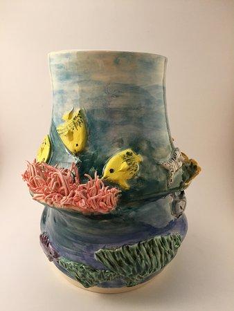 Cobourg, Kanada: Coral reef vase.