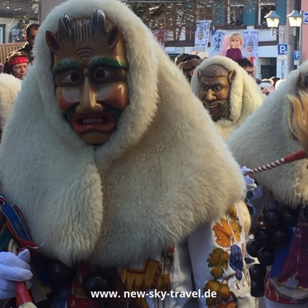 Black Forest, ألمانيا: Another beautiful carnival costume from a sunny carnival weekend....the famous Swabian Allemanian Carnival season is on until the beginning of March 2019.