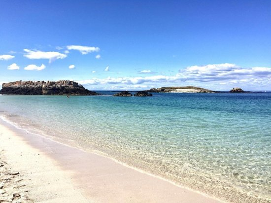 Finistere, Francie: Ma plage préférée ? La plage de l'île de Saint-Nicolas dans le Finistère - Iles Glénan.