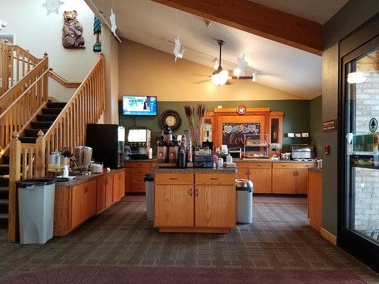 Proctor, MN: The breakfast area during breakfast.