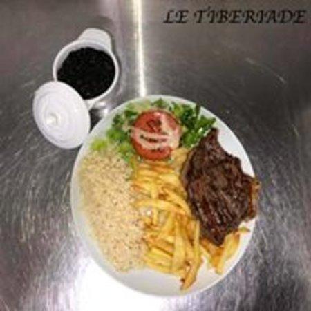 Le Tiberiade: PICANHA COM FEIJAO PRETO