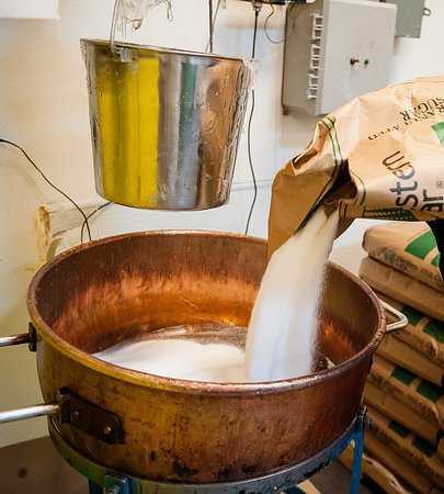 Hammond's Candies: The first step in the candy cane making process.