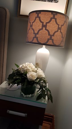 Gorgeous flowers in our room