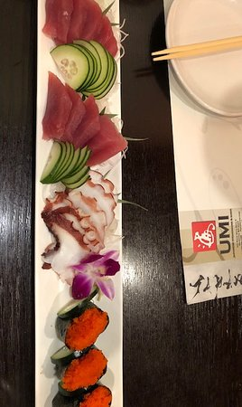 Tuna, octopus, and fish eggs - Picture of UMI Steakhouse