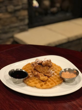 Chicken and waffles Brunch