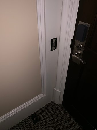Lightswitch fell off wall, poor maintenance