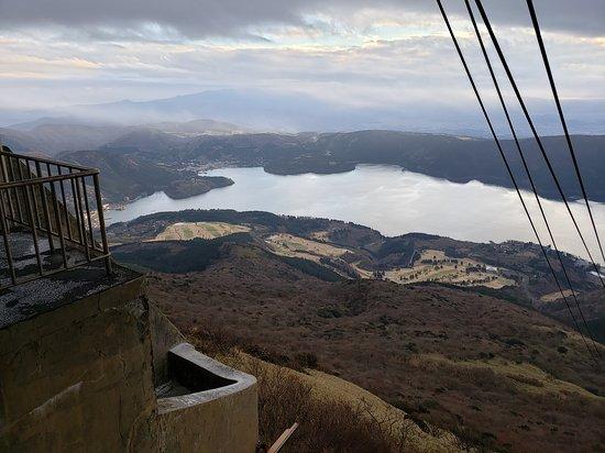 Mt Fuji, Hakone, Lake Ashi Cruise and Bullet Train Day Trip from Tokyo: View of Lake Ashi from top of Hakone