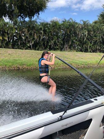 Walkin on Water: Tubing and walking on water at Lake Ida