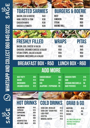 Our latest menu - quality and value