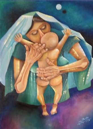 Title: Aking Anak Medium: Oil on Canvas  2 X 2.8 ft.