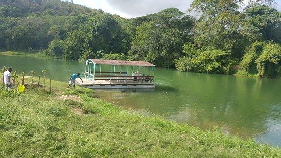Autentica Rep Dom: Notre barge sur le fleuve Chavon