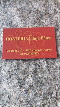Donnas, Italia: Bo'ja Fa'uss