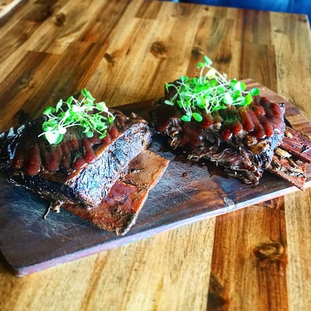 Our recent menu addition: BBQ beef ribs... Trust me, they taste better than they look!