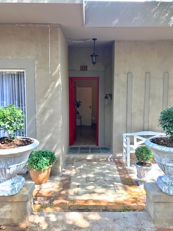 The Red door Entrance to the Lounge and Dining room