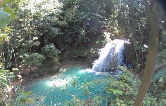 Main falls and Blue Hole.