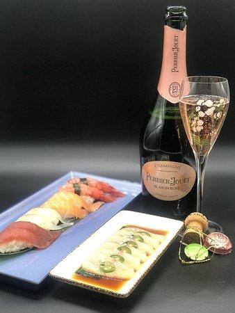 Shabu Lecco - Japanese Fusion Restaurant: Nigiri, Pink ricciola e Champagne rosè