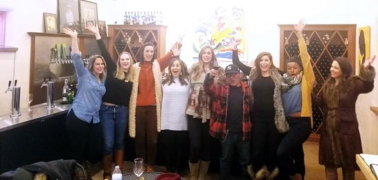 Great group of women bachelorette wine tour!