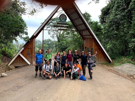 The group at Mweka gate (end of hike)