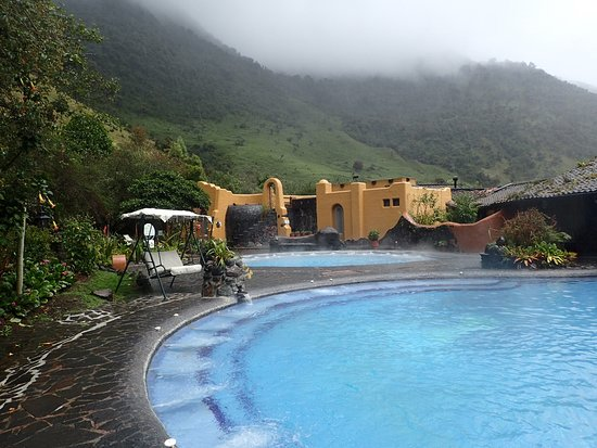 Termas de Papallacta Hot Springs full day tour from Quito: wear sunscreen, even though the sun wasn't out the whole time.....the sun still burns the skin.