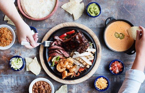 Fajita fiesta and an order of con queso