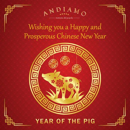 Wishing you a Happy and Prosperous Year of the Pig!