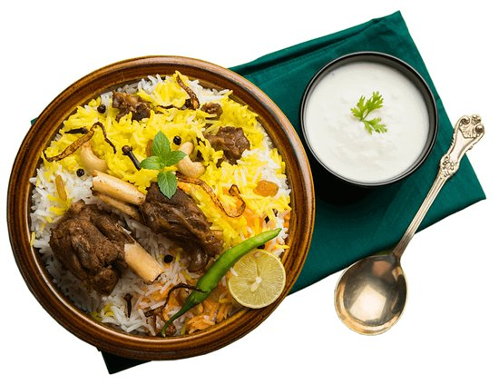 Biratnagar, Nepál: Our Mutton Biryani is the most delicious, soft tender chunks of He goat's meat Marinated in Nepali style spiced onion, Garlic & Basmati Rice. Have you ever wondered how the mutton biryani served in restaurants/hotels is so soft, succulent and tender? You should Try Our Mutton Biryani Once.