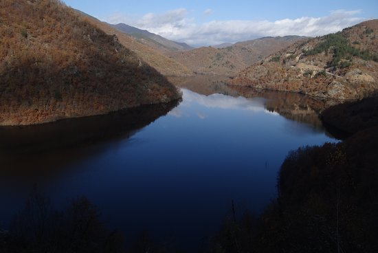 Hydroelectrical dam of Platanovrysi . There is a beautiful trail around the lake where various kinds of wild birds nest. A must see in the area of Paranesti, Drama