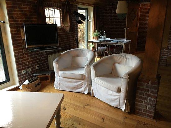 Triënte Hotel-Pension & Appartementen: woon- en eetkamer appartement