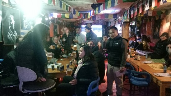 Liquid Bar Namche: Hello best bar in namche liquid bar. Everyday free document movie free Wi-Fi free battery Charge & any time choice English music
