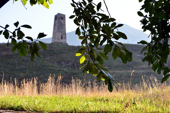 Republic of North Ossetia-Alania, รัสเซีย: Северная Осетия. Башня в Даргавсе.