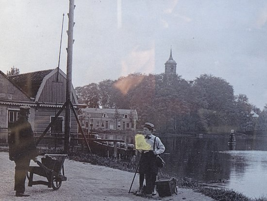 Amstelkerk op een historische foto rond 1900