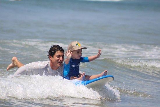 Surfing lesson in Costa Rica