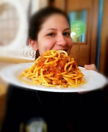Bucatini all amatriciana by Chef Mariangela