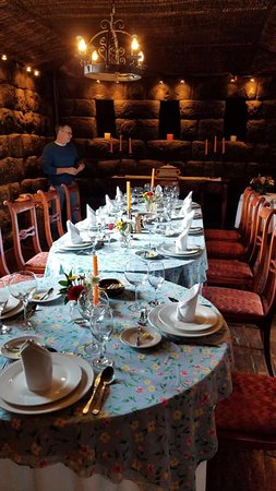 Incan dining room - we could not believe we were having lunch and dinner at such an ancient building - food was amazing!