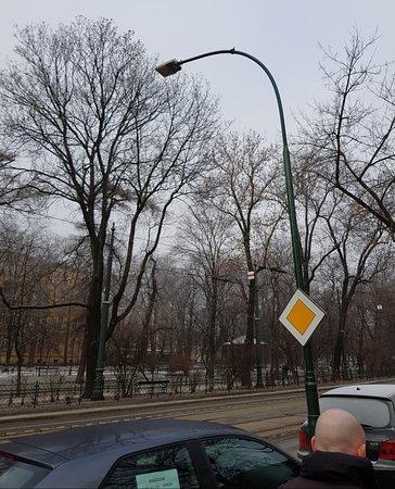 The park that surrounds the city
