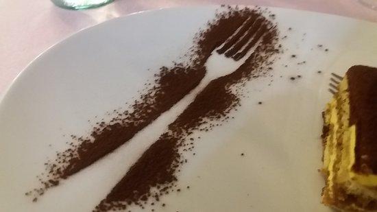Forchetta disegnata col cacao:GENIALE!