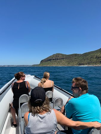 Enjoy a boat tour along the scenic Central Coast Beaches.