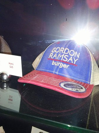 Gordon Ramsay Burger: souviners for sale at the restaurant