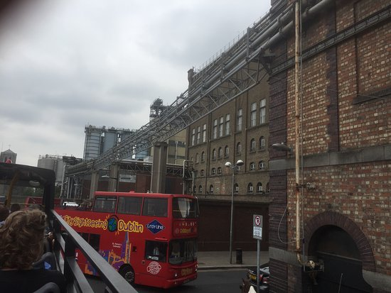 Guinness Storehouse: Lots of tourist activity.