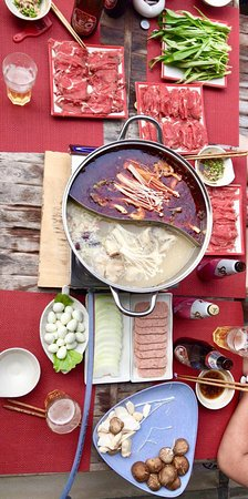 STUFFED North China Taste: Yes, now we have Chinese Chongqing Hot Pot ! The base soup and all the sauce come from Chongqing China.