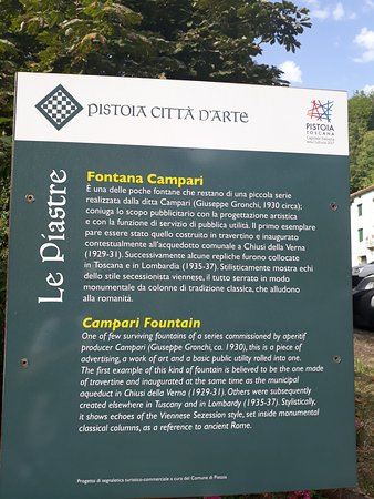 Le Piastre, Włochy: pannello descrittivo