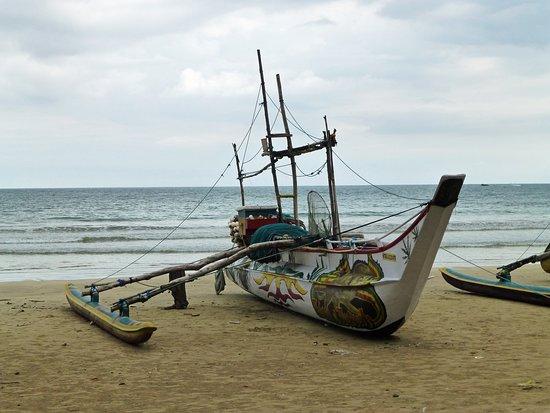 Reise Sri Lanka : Beach Fisher Boat @ Weligama
