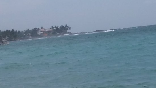 There are several islands off the beach
