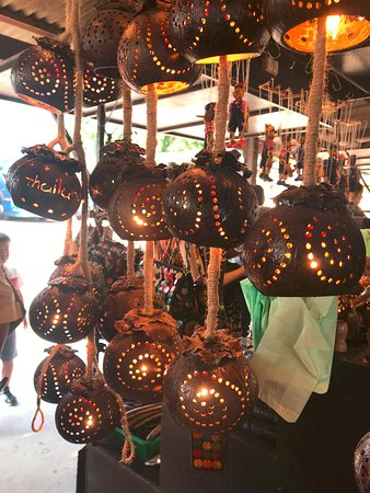 lamps from coconut shells