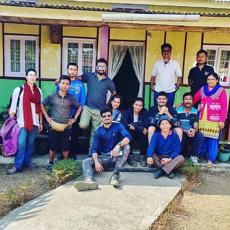Pynursla, India: A team of travellers who had visited our Village