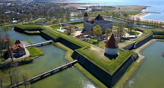 Saaremaa, Estland: Aerial summer view