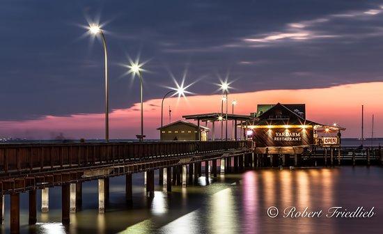 Fairhope Municipal Pier: Fairhope Pier just after sunset